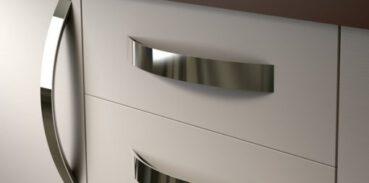 tiradores empotrados para armarios de cocina tiradores deslizantes redondos color blanco brillante Morobor Juego de 4 tiradores de dedo para puerta de armario tiradores de puerta invisibles
