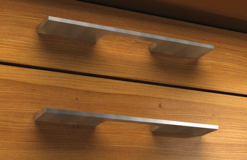 TIRADORES EN ALUMINIO - cajón marrón