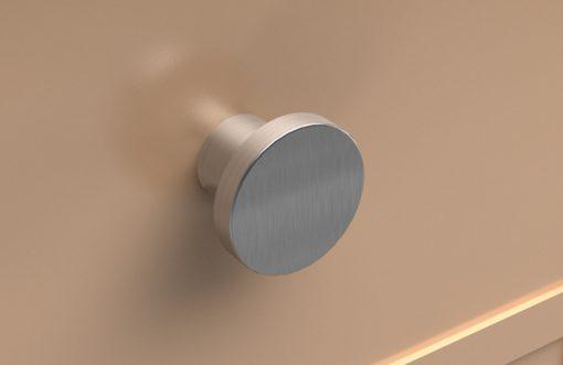 Pomos de acero - cajón color crema
